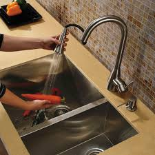 Vigo Stainless Steel Faucet Vigo Industries Vg02013st Single Lever Pull Down Faucet With Dual