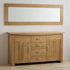 Modern Sideboards Uk Contemporary Natural Solid Oak Wall Mirror 1800mm X 600mm