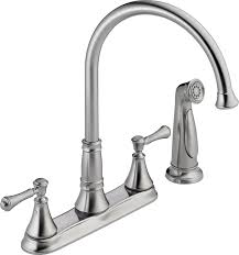 delta faucet 2497lf ar cassidy two handle kitchen faucet with
