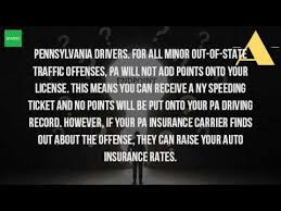 does a red light ticket affect insurance do traffic violation points transfer from new york to pa youtube