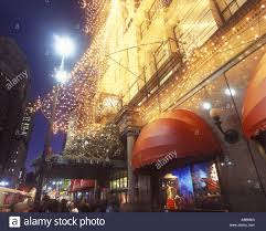 christmas tree lights macys store herald square manhattan new york