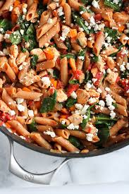Dinner Ideas Using Chicken One Pot Whole Wheat Pasta Recipe With Chicken U0026 Spinach Cookin