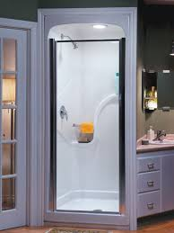 stylish shower stall small bathroom design with corner sink for