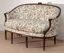 louis xvi style canape corbeille sofa at 1stdibs
