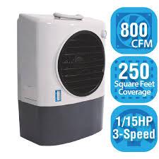 hessaire 800 cfm 3 speed portable evaporative cooler for 250 sq