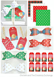 bow wrapping paper free christmas printables gift tags wrap paper and bows