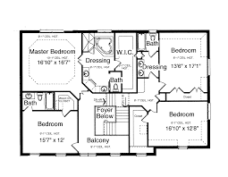 bedroom story floor plan top four house plans modern 4 2 charvoo
