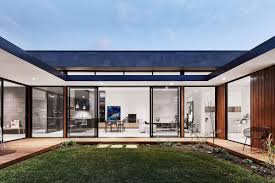 home courtyard modern courtyard house is a seaside curbed