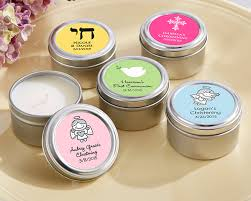 candles and favors personalized candle tin for christening or baptism favors by