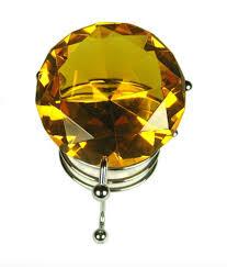 feng shui yellow eshoppee vastu fengshui yellow crystal diamond with stand buy