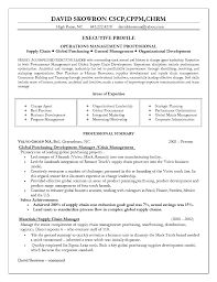 Sample Resume For Supply Chain Management by Supply Chain Resume Resume For Your Job Application