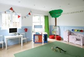 furniture amusing playroom ideas with white frame window and red