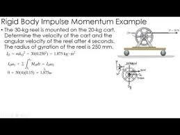 dynamics exle impulse momentum of rigid bodies