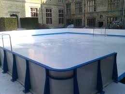 synthetic ice hockey rink installed in castle ashby