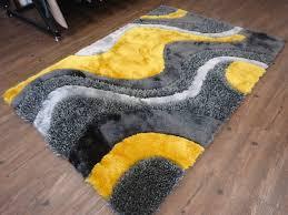 2tone grey to dark grey effect with yellow shag rug rug addiction