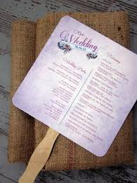 Diy Wedding Program Fans Kits Great Idea For A Summer Wedding Or Any Summer Event Diy Ceremony