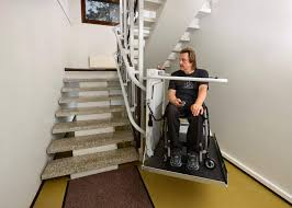 modren curved stair chair lift ameriglide platinum approved