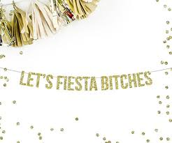 Theme Party Decorations - amazon com let u0027s fiesta bitches banner fiesta theme party