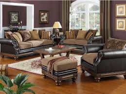 Leather Sofa Fabric Astonishing Brown Leather Sofa With Fabric Cushions 26 With