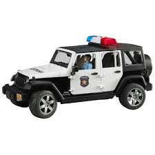 light gray jeep amazon com jeep rubicon police car with policeman toys u0026 games