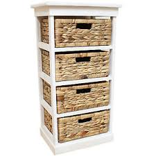 Seagrass Bathroom Storage White Seagrass Basket Drawer Chest Storage Cabinet Unit Home