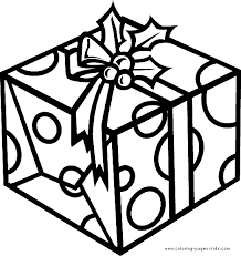 christmas present color christmas coloring pages holiday