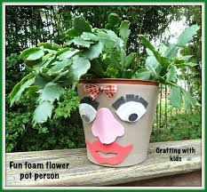 make it easy crafts fun foam flowerpot person