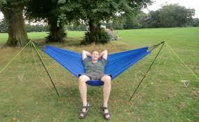 blue diy eno hammock stand designs for outdoor gardening