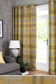 Green Checkered Curtains Check Curtains Checked Ready Made Curtains Next Official Site