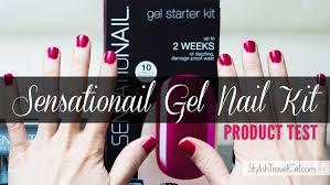 product test sensationail gel starter kit