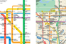 map of ny subway the new york city subway map redesigned observer