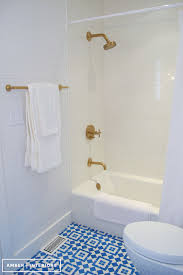 Gold Bathroom Fixtures Brushed Gold Shower Cottage Bathroom Interiors