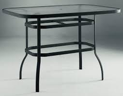 60 Patio Table Woodard Aluminum Patio Furniture 42 X 60 Rectangular Glass Top
