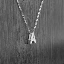 silver letter necklace pendants images Silver letter pendant ebay jpg
