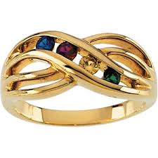 gold mothers rings 5 mothers ring in 14k yellow or white gold