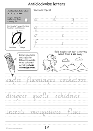 printable cursive writing paper handwriting conventions victoria teachers 4 teachers year 3