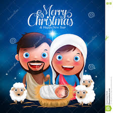 merry greetings with jesus born in manger belen with