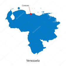 Venezuela Map Detailed Vector Map Of Venezuela And Capital City Caracas U2014 Stock