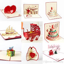 new 3d handmade card birthday valentines wedding day card cake