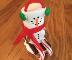 macaroni craft marshmallow snowmen ornaments macaroni kid