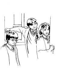 coloring page harry potter coloring me