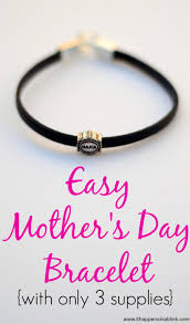 mothers day bracelet easy s day bracelet with only 3 supplies