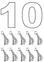 counting using giraffe coloring pages for kids erg printable