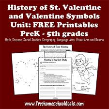 history of st valentines day unit study and free printables prek