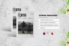 femina magazine template magazine templates creative market