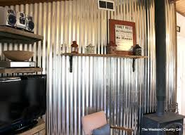 Remodelaholic DIY Corrugated Tin Wall Tutorial - Corrugated metal backsplash
