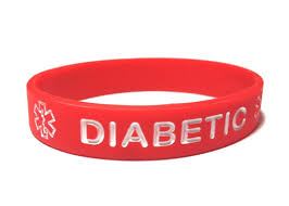 red silicone bracelet images Diabetic silicone medical alert wristbands elegant medical alert jpg
