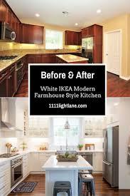 white ikea modern farmhouse style kitchen jpg