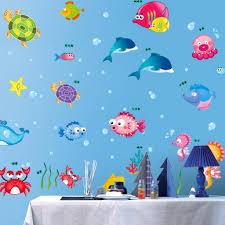 buy decals design underwater creatures baby wall sticker pvc buy decals design underwater creatures baby wall sticker pvc vinyl 50 cm x 70 cm online at low prices in india amazon in