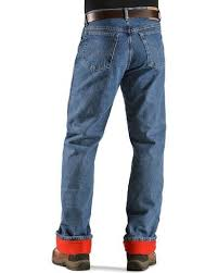 wrangler jeans rugged wear relaxed fit flannel lined sheplers